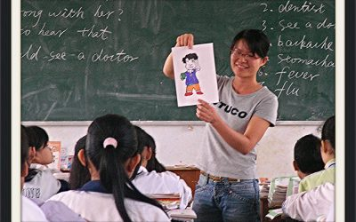 School teacher teaching in a classroom